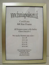 3 SILVER BLACK WHITE OR GOLD PICTURE PHOTOGRAPH FRAMES OF YOUR CHOICE