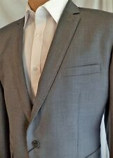 Kurt Muller Mens 3Piece Tailored Grey Silver Suit Wedding Prom Party Waistcoat
