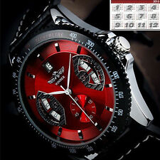 Winner Sport Men's Attractive Leather Band Date Automatic Mechanical Wrist Watch