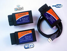 WiFi Bluetooth ELM327 USB OBD2 OBD-II  Car Auto Diagnostic Scanner Tools