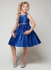 New Satin Flower Girls Dress Christmas Easter Pageant Party Holidays Rhinestones