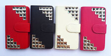 3D Diamond Flip PU Leather Card slots Wallet Cover Case Pouch For LG phone