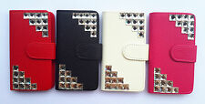 Luxury Crystal PU Leather Flip Pouch Card slots Wallet Cover Case for SONY Phone