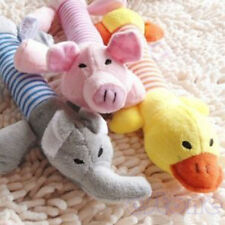 New Dog Toy Pet Puppy Plush Sound Chew Squeaker Squeaky Pig Elephant Duck Toys