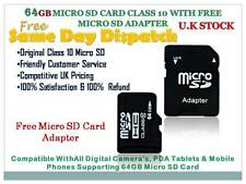 64GB Micro SD SDHC TF Flash Memory Card + adapter For Smart Phone Camera Tablet
