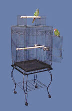 """Hana Hut Playtop Small Bird Cage with Stand - 20""""W x 20""""D x 57""""H"""