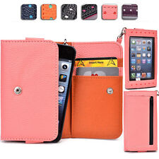 "Ladies Touch Responsive Wrist-let Wallet Case Clutch AM|E fits 4.5"" Cell Phone"