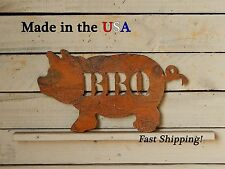 BBQ Pig Metal Sign - Home Decor - Indoor/Outdoor - Artwork - Grill - Lawn