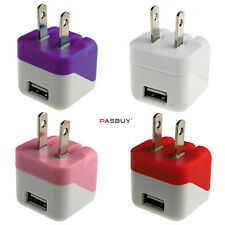 Colorful 2 Pack Universal Ac Home Travel Wall Chargers for iPhone Pad Samsung W3