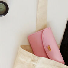 Cute Envelope type Ribbon 2pockets Business Name Credit ID Card Holder Wallet