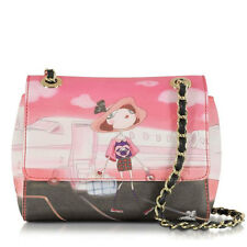 Shoulder bag Clutch LOVE MOSCHINO Charming girls Airplane Snow Rome A/W 2014