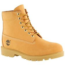 """TIMBERLAND MEN'S 6"""" INCH WATERPROOF LEATHER BOOT WHEAT 10066 SELECT SIZE"""
