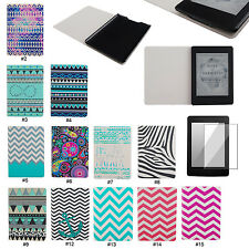 Color Stripe PU Leather Flip Case Cover For Amazon Kindle Paperwhite 1 2&3G Wifi