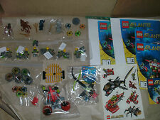 USED LEGO ATLANTIS MINIFIGS KEYS ACCESSORIES INSTRUCTIONS SPARES & PIRANHA 30041