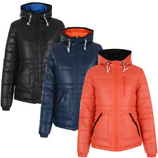 Womens Jacket Bellfield Ladies Padded Quilted Warm Winter Hooded Puffer Coat