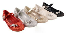 Infant Girls Dress Party Wedding Buckle Strap Low Heel Courts Shoes Size 10-4