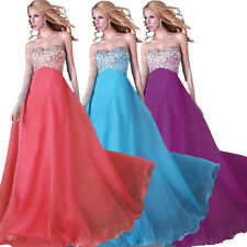 ❤FREE SHIP❤CHEAP Long Formal Party Ball Gown Bridesmaid Evening Wedding Dresses