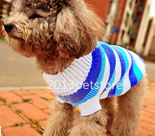 NEW pet Knit sweater cat Winter Jumper clothes dog puppy coat X-Small to X-Large