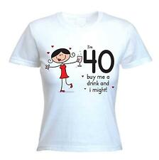 BUY ME A DRINK 40TH BIRTHDAY T-SHIRT - Gift Present Party -Size S to XL