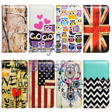 Bocov Colorful Pattern Card Slot Wallet Leather Case Cover For Apple iPhone 6 6G