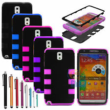 Hybrid Rugged Rubber Matte Hard Case Cover for Samsung Galaxy Note 3 III N9005