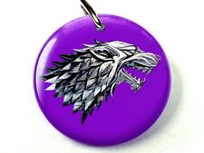 Stark wolf purple Game of Thrones GOT dog cat custom tag for pets by ID4PET 1
