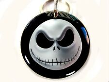 Christmas Halloween smile white round cute dog cat custom pet tag by ID4PET