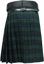 "Men's Kilt Black Watch 8 Yards/Scottish Kilt Black Watch 8 Yard 32"" to 46"""