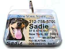 New York NEW vanity drivers license dog cat custom novelty pet tag by ID4PET