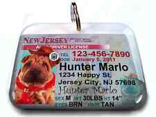 New Jersey vanity drivers license dog cat custom novelty pet tag by ID4PET