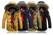 New Mens Fashion Hooded Parka Jacket WINTER WARM Duck Down Coat Thicker