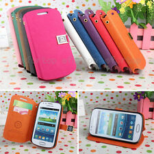 D Fashion Classic ID Card Flip Stand/Holder PU Leather Cover Case For Samsung