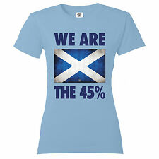 We are the 45 % Scottish referendum independence election Womens colours T Shirt