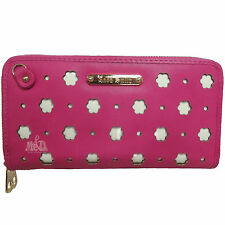 Anne Smith (LYDC) Ladies Girls Flower and Dot Laser Cut Out Large Clutch/Purse