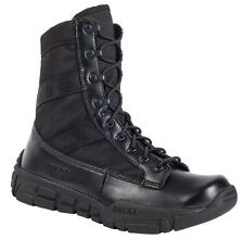 """Rocky Men C4T 8"""" Black Leather Military Inspired Combat Tactical Boots RY008"""