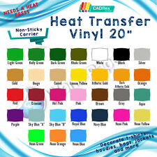 "Heat Transfer Vinyl For T-shirts Heat Press Machine PVC 20"" x 5Y Pick yours! :)"
