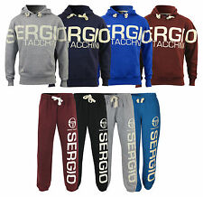 New Mens Sergio Tacchini Sweatshirt Joggers Printed Jumper Sweater Hooded