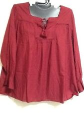 Cacique Lane Bryant Shirt Tunic Victorian Reniassance Poet Lounge Plus Size New