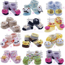 Newborn Infant Toddler Baby Cotton Booties Socks Boots Toes Cartoon Animal