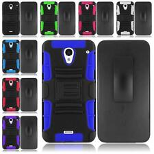 For Sharp Aquos Crystal Rugged Side Stand Holster Cover Case