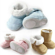Soft Non-slip Sole Baby Infant Toddler Boy Girl Fur Shoes Snow Warm Boots Gift