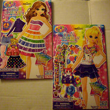 NEW LISA FRANK DIVA FASHIONS Dress-Up Sticker Doll * Your Choice Doll *