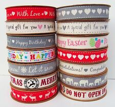 100% Cotton Fabric Christmas Ribbon Vintage Tape Trim Lace Craft Gift Rolls
