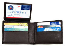 RFID Blocking Secured Genuine Leather Men's Wallet Bifold ID Holder Black, Brown