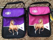 Pink or Purple Girls Insulated Lunch Box Bag Tote NWT -HORSE & SPARKLE PALOMINO