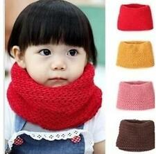 LO CA 2014 New Children Winter Warm Infinity Cable Knit Cowl Neck  Scarf Shawl