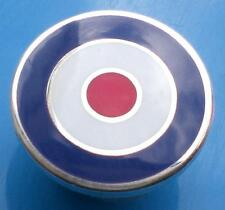 MOD TARGET SCOOTER BADGE - IN BLUE WHITE RED -   12MM 16MM OR 20MM DIA