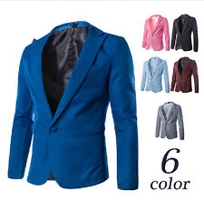 Free shipping Mens Slim Fit Stylish Casual One Button Suit Coat Jacket Blazers