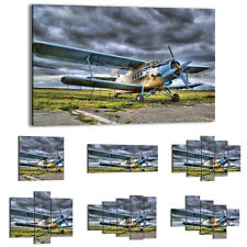 Canvas Print Framed Picture 47 Shapes Wall Art aircraft airplane travel 0491 UA