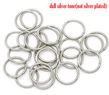 Packs of Silver Tone Open Jump Rings For Jewelry Making & Crafts Many Sizes